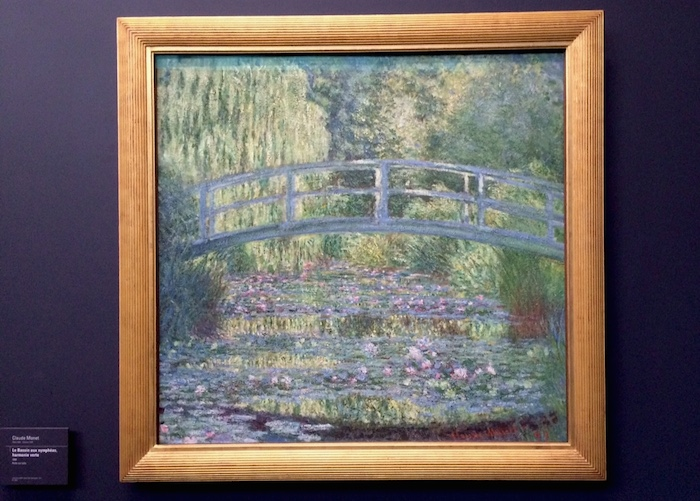 """The Water -Lily Pond"" From Musee d'Orsay. Really cool to see both the real thing and the painting!"